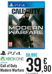 Oferta de Call of Duty Modern Warfare por 39.9€