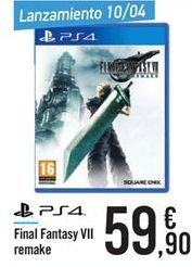 Oferta de Final Fantasy VII remake  por 59.9€