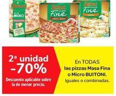 Oferta de En TODAS las pizzas Masa Fina o Micro BUITONI por