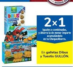 Oferta de En galletas Dibus y Tuestis GULLÓN por