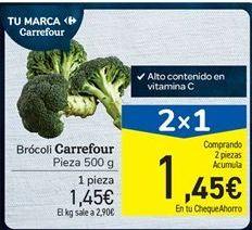 Oferta de Brócoli Carrefour Pieza 500 g por 1.45€