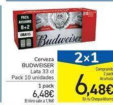 Oferta de Cerveza Budweiser por 6,48€