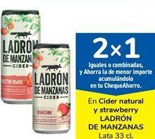 Oferta de En Cider natural y strawberry LADRÓN DE MANZANAS por