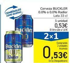 Oferta de Cerveza BUCKLER 0.0% o 0.0% Radler por 0.53€