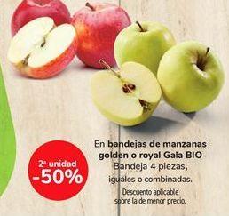 Oferta de En bandejas de manzanas golden o royal Gaia BIO por