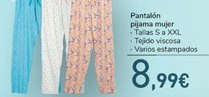 Oferta de Pantalón pijama mujer  por 8.99€