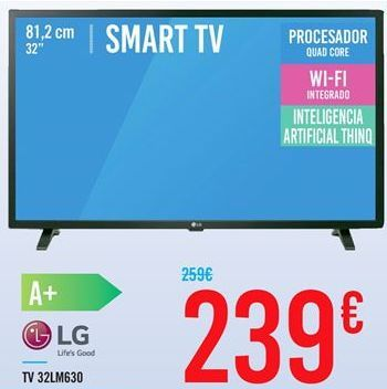 Oferta de TV 32LM630 LG por 239€