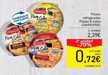 Oferta de Pizzas refrigeradas Pizzas & Salsa CAMPOFRÍO por 2.39€