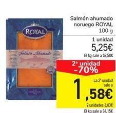 Oferta de Salmón ahumado noruego ROYAL por 5,25€