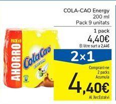Oferta de COLA-CAO Energy 200ml por 4,4€