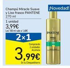 Oferta de Champú Miracle Suave y Liso frasco PANTENE por 3,99€