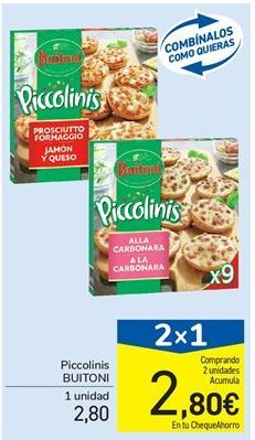 Oferta de Piccolinis Buitoni por 2,8€