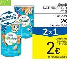 Oferta de Snack Naturnes Bio por 2€