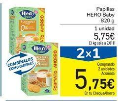 Oferta de Papillas Hero Baby por 5,75€