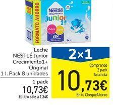 Oferta de Leche NESTLÉ Crecimiento Junior 1+ por 10,73€