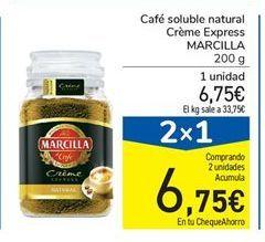 Oferta de Café soluble natural Crème Express MARCILLA 200 g por 6,75€