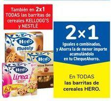 Oferta de En TODAS las barritas de cereales HERO por