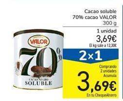 Oferta de Cacao soluble 70% cacao VALOR 300 g por 3,69€