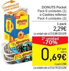 Oferta de DONUTS Pocket o Cookies rellenos por 2.29€