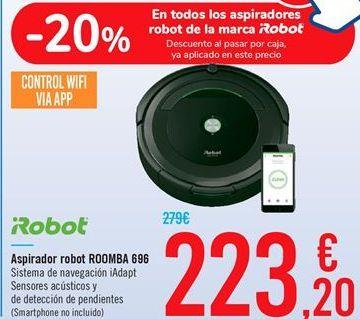 Oferta de Aspirador robot ROOMBA 696 por 223,2€