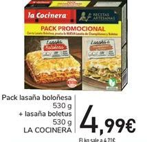 Oferta de Pack lasaña boloñesa LA COCINERA por 4.99€
