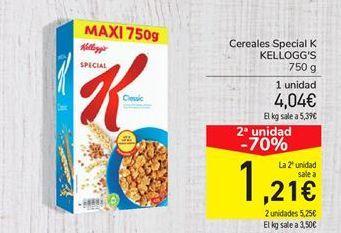 Oferta de Cereales Special K KELLOGG'S por 4,04€