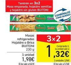 Oferta de Masas refrigeradas Hojaldre o Brisa BUITONI por 1,98€
