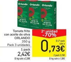 Oferta de Tomate frito con aceite de oliva ORLANDO por 2.42€