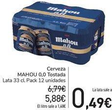 Oferta de Cerveza MAHOu 0,0 Tostada por 5,88€