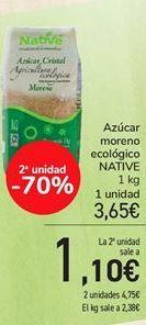 Oferta de Azúcar moreno ecológico NATIVE por 3,65€