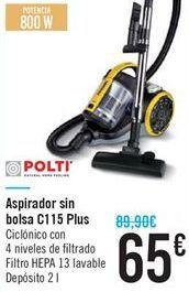 Oferta de Aspirador sin bolso C115 Plus  por 65€
