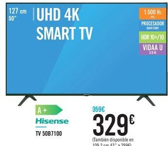 Oferta de TV 50B7100 HISENSE por 329€