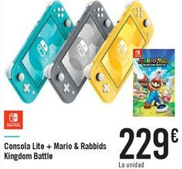 Oferta de Consola Lite + Mario & Rabbids Kingdom Battle por 229€