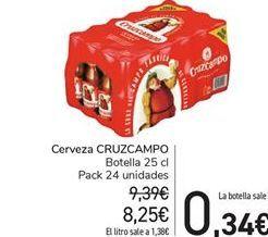 Oferta de Cerveza Cruzcampo por 8.25€