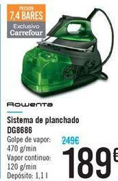 Oferta de Sistema de planchado DG8686 Rowenta por 189€