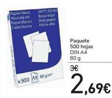Oferta de Paquete 500 Hojas  por 2,69€
