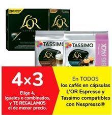 Oferta de En TODOS los cafés en cápsulas L'OR Espresso y Tassimo compatibles con Nespresso por