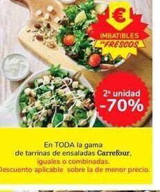 Oferta de En TODA la gama de tarrinas de ensaladas Carrefour por