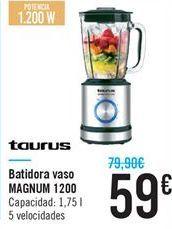 Oferta de Batidora vaso MAGNUM 1200 Taurus  por 59€