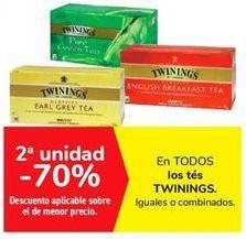 Oferta de En TODOS los tés TWININGS por