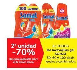 Oferta de En TODOS los lavavajillas gel SOMAT por