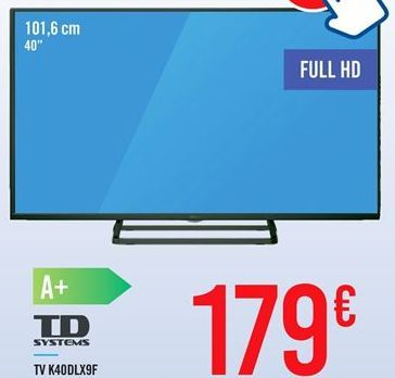 Oferta de TV K40DLX9F TD SYSTEMS por 179€