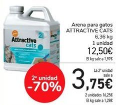 Oferta de Arena para gatos ATTRACTIVE CATS por 12,5€