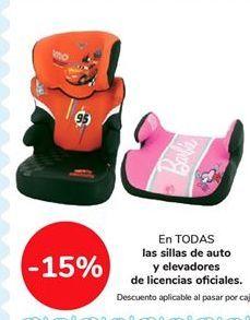 Oferta de En TODAS las sillas de auto y elevadores de licencias oficiales por