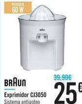 Oferta de Exprimidor CJ3050 BRAUN por 25€