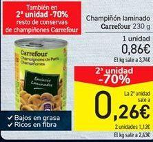 Oferta de Champiñón laminado Carreofur por 0.86€