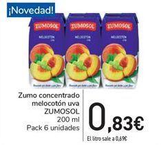 Oferta de Zumo concentrado melocotón uva ZUMOSOL por 0.83€
