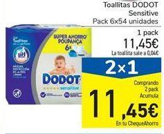 Oferta de Toallitas Dodot sensitive por 11.45€