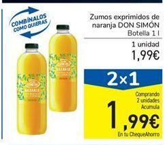 Oferta de Zumos exprimidos de naranja DON SIMÓN por 1.99€