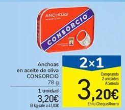 Oferta de Anchoas en aceite de oliva CONSORCIO por 3.2€
